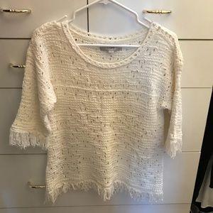 NWOT Loft fringe sweater